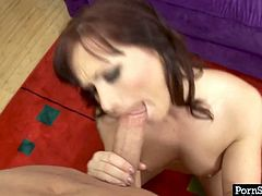 Despite the age Katja Kassin is still seductive woman. Sitting down on her knees she is showing off her outstanding skills in giving professional blowjob. Milf hottie is really good in cock sucking action. Check this out.