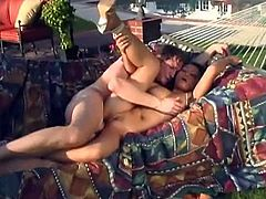 Shapely brunette knockout Mya Luanna will never miss a chance for a good, hard fuck. Sex-starved Asian hottie gets into sideways position to let her lover drill her twat hard. Then she spreads her legs wide for missionary style pounding.