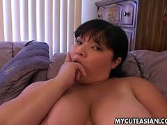 This asian chubby chick knows how to have fun with big cock. She sucks it in pov style and takes it up her tight pussy like never before!