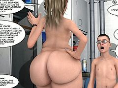 Check out this amazing 3d comics, where big ass blonde slut got nailed on the boat in her horny cunt by a nerdy guy with glasses!
