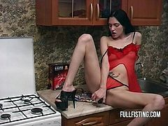 Reduced video quality and length. Just a ordinary day where you come home and find your wife fisting her pussy and desperately wants you to gag her and blow your load in her face. THAT LUCKY FUCK. PRAISE ODIN.