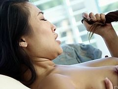 Two sensuous babes are here and enjoy each others fresh lady juice. One dives in another one's pussy and makes her moan with a great delight.