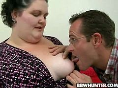 Pres play on this hardcore video and watch this guy nailing this mature BBW's fat pussy as the camera films the entire action.