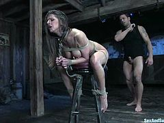 Nice sex and submission to watch! Lusty siren Rachel Roxxx gets hogtied and that nice ass makes his cock get hard. So he fucks her!