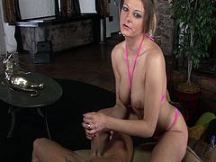 Nikki Nievez is all about giving pleasure, and the great thing about this little Latina nympho is that she gets pleasure from giving it. Whether she's having hot sex or just using her wiry forearms in a handjob, she's got the means to get her man to pop hard.