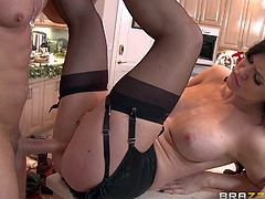 Kendall Karson is a sexy cooking show star that is actually not so good at cooking. She is perfectly good at fucking. TV producer Preston Parker takes some time to fuck her pussy, Busty Kendall Karson takes his dick eagerly!