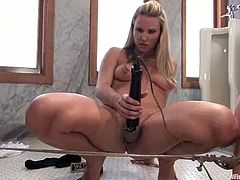 The blonde slut Harmony features this lesbian BDSM femdom video with torture, bondage and toying where she dominates Bobbi Starr!