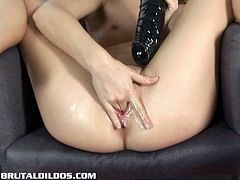 Lepidoptera shows off her sexy body and she is totally naked for you. After rubbing her tight muff she is prepared to take a huge dildos for some really heavy orgasms!