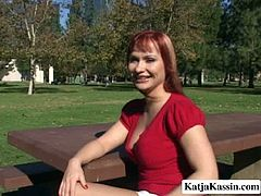 Chubby hoes are chilling in the park at a shiny day. Then they both appear in the bedroom where they start stripping. Redhead hooker stretches her lover's butt cheeks exposing her privates.