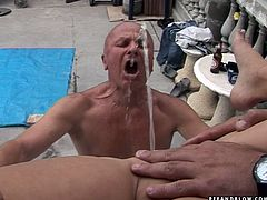 Kinky and cock starving brunette seeks for a chance to be fucked from behind right on the floor. Three obese old men polish gal's fresh pussy and get solid blowjobs for cum in return right outdoors. Check out this steamy 4some in hot 21 Sextury xxx clip to jack off and jizz at once.