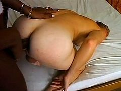 Horny fucker rides tranny dick in this kick-ass scene! Two sets of balls coming your way! Hit play and check it out, man!