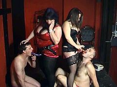 Strapon party with gorgeous mature ladies