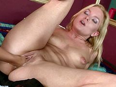 If you are a true fan of lesbian porn thenn this awesome sex video is worth your attention. Incredibly horny blondie shoves her whole fist deep inside her girlfriend's snatch and starts pumping it in and out nice and slow.