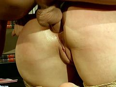 Dude, you're welcome to enjoy this steamy 21 Sextury xxx clip. Kinky booty brunettes are tied up with ropes. Submissive chicks have to suck strong dicks and get their anuses polished tough right away.