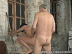 Sexy young lad gets his hot ass fucked by a mature guy