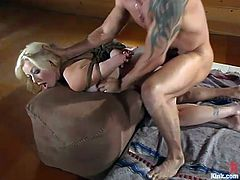 Dominating Blonde Adrianna Nicole to Fuck Her Pussy and Ass