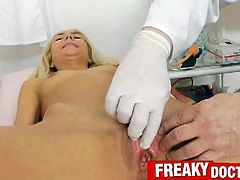 Victoria Puppy pussy pumping therapy with this freaky doctor. She strips everything for this check up but then her body gets taked advantage of. Now, she's enjoying every second of it.