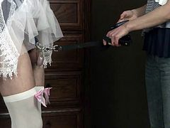 Maid Shocked and Punished