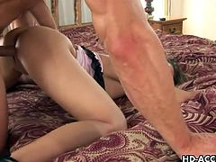 Brunette whore Jamie Elle gets her pussy swollen as she enjoys hardcore and steamy bashing from her thick dick fucker.