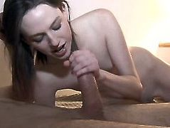 Pornstar sex clip provides you with a great college sex. Spoiled and titless brunette coed girl gives handjob and blowjob. Then drunk bitch with pale ass rides a strong cock passionately for orgasm.