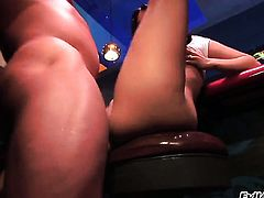 John West drills unbelievably sexy Brianna Loves mouth just like crazy