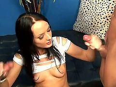 Melissa Lauren satisfies guys sexual needs and desires and then gets painted with man semen