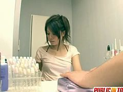 Amateur Japanese teen Miku Asaoka toyed and fucked in public. She's not afraid that someone might walk in because her horny desires take the best of her.