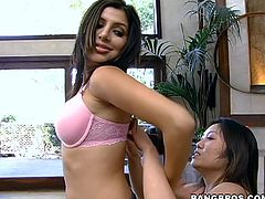 Super hot Sativa Rose and a slender Asian lust Kaiya are going to enjoy this guy! Sure he hadn't fucked a sexy Latina and a lusty Asian at a time!