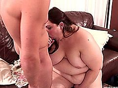 This plump bbw loves to get down and dirty.  Hope to see more of her!