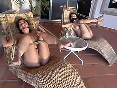 These sizzling and passionate sirens are getting some severe pain! hey get tied up and penetrated hard. What a hot BDSM perversions we are pleased to present!