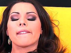 Watch the video with magnetic brunette diva Cindy Hope Klaudia. She gonna stay absolutely naked before starting to strip and to stretch her sweet pussy on camera.