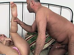 Young busty slut gives her lover one hell of a blowjob