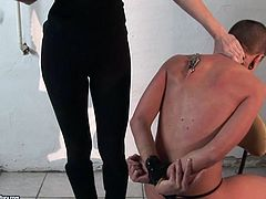 21 Sextury femdom sex clip is what you need to jack off and jizz, if you're a true fan of bondage. Spoiled brunette with natural tits wears black dress and makes short haired and tied up gal kneels down to tease her pussy.