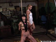 Sizzling hot mistress with fine ass dominates her slave viciously