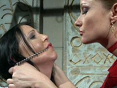 Spoiled wench with perky tits gets punished in tough BDSM way