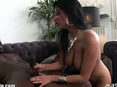 Anissa Kate never misses an opportunity to fuck a big dicked black dude. After sucking his massive cock she takes it into her cunt and tight asshole like a champ!