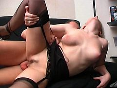 Nasty blonde shows her hard fucking skills in this raw video as she gets her ass drilled and gaped as fuck, check it out.