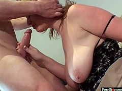 Welcome to enjoy a really cum addicted blond BBW in Pornstar sex clip. This fatso with huge boobs and enormous butt kneels down as soon as she sees a boner. All this slut needs is to give a solid blowjob to be fed with gooey sperm.