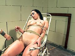 Cruel nurse gives her patient a check up she'll never forget. She dominates her viciously, giving every kind of kinky torture to this brunette.