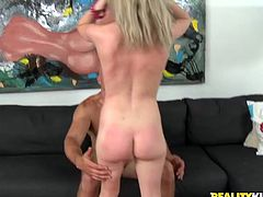 Reality Kings presents you steamy porn video featuring sizzling young slut fucking like crazy. She jumps on a hard dick vigorously.