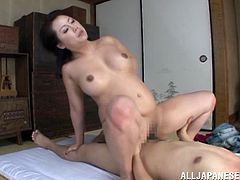 What a Japanese milf would love to have a nice moment of penetration and reach some muscular spasm. Damn, she is so beautiful!