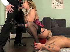 Beautiful Aleska Diamond gets rammed by two guys