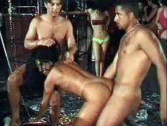 Check out this super hot-ass fucking scene with these motherfuckers stuffin' each other and fucking shit... It's a gangbang with trannies!