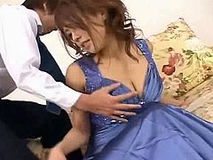 Haruka Sanada Asian doll gets gets tits fondled