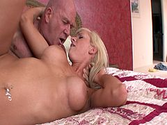 Kaylee Hilton is a skinny blonde porn chick who gets some hardcore banging from an old dude in 'Relax He's my Stepdad 4.' Her naughty peeping leads to some great fucking.