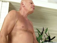 This old grandpa has got many filthy fetished fantasies. He is into fresh girls with slim bodies and small tits. He is also into rimjob action. So he realizes all his dirty dreams in this porn clip.
