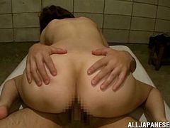 Asami Ogawa is a very hot and incredibly horny Japanese girl who is pleasing this dude's cock with her hands, tongue and pussy.