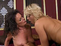 Black and blond haired lesbians presented in 21 Sextury xxx clip will make you jizz. Wondorus cuties with sweet tits wear black lingerie and desire to lick each other's soaking juicy cunts for orgasm.