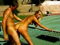 Have a look at this hardcore vintage video where a smoking hot blonde babe's fucked all over the patio by this guy as you hear her moan throughout the entire clip.