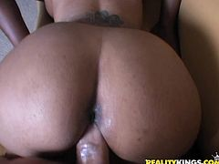 These ebony amateurs shows off their cock-sucking skills and get their dark boxed nailed hard in this steamy FFM threesome.